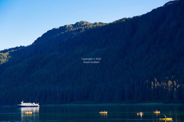 Kayaking at Port Althrop, Inside Passage, Alaska, USA