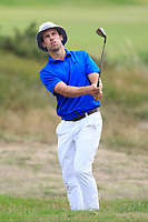 Alex Glesson (Castle) on the 6th during the 1/4 Finals of the AIG Irish Close Championship at the European Club, Brittas Bay, Wicklow, Ireland on Monday 6th August 2018.<br /> Picture: Thos Caffrey / Golffile<br /> <br /> All photo usage must carry mandatory copyright credit (&copy; Golffile | Thos Caffrey)