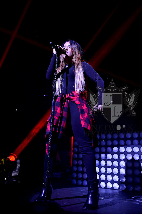 MIAMI, FL - SEPTEMBER 23: Becky G performs onstage during J Balvin ' La Familia' tour at James L Knight Center on Wednesday September 23, 2015 in Miami, Florida. ( Photo by Johnny Louis / jlnphotography.com )