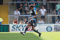 Sido Jombati of Wycombe Wanderers clears the ball during the Sky Bet League 2 match between Wycombe Wanderers and York City at Adams Park, High Wycombe, England on 8 August 2015. Photo by Andy Rowland.