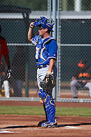 Kansas City Royals Parker Morin (14) during an instructional league game against the San Francisco Giants on October 22, 2015 at the Giants Baseball Complex in Scottsdale, Arizona.  (Mike Janes/Four Seam Images)