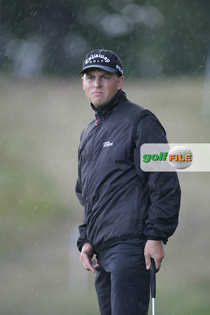 Niclas Fasth after taking his putt on the par4 9th green during the 3rd round of the Smurfit Kappa European Open at The K Club, Straffan,Co.Kildare, Ireland 5th July 2007 (Photo by Eoin Clarke/NEWSFILE)