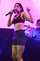 MIAMI FL - JUNE 12: Dua Lipa performs at Bayfront Park Amphitheater on June 12, 2018 in Miami, Florida. <br /> CAP/MPI04<br /> &copy;MPI04/Capital Pictures