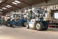 tractor garage domaine maillard chorey-les-beaune cote de beaune burgundy france
