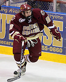 Barry Almeida (BC - 9) - The Merrimack College Warriors defeated the Boston College Eagles 5-3 on Sunday, November 1, 2009, at Lawler Arena in North Andover, Massachusetts splitting the weekend series.