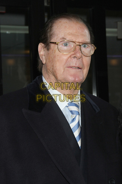 Actor Sir Roger Moore, best known for playing James Bond, has died aged 89, his family has announced after &quot;a short but brave battle with cancer&quot;.<br /> STOCK PHOTO: NEW YORK, NY - NOVEMBER 12: Sir Roger Moore seen in New York City. November 12, 2012. <br /> CAP/MPI/RW<br /> &copy;RW/MPI/Capital Pictures