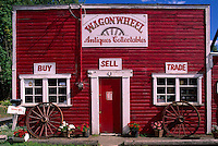 Shops at Whippletree Junction, a Re-created Turn of the Century Village (early 1900's) near Duncan, BC, Vancouver Island, British Columbia, Canada