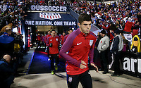 Columbus, OH - November 11, 2016: The U.S. Men's National team go up versus Mexico in their Hexagonal World Cup Qualifier match at MAPFRE Stadium.