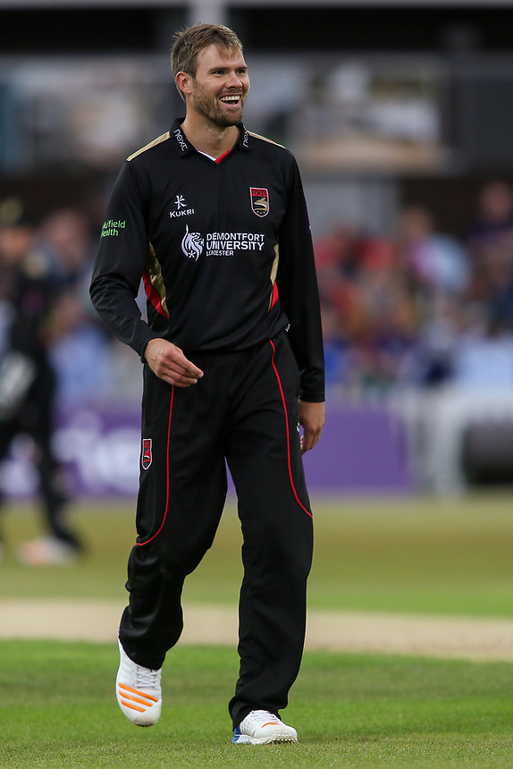 Leicestershire's Matt Pillans<br /> <br /> Photographer Andrew Kearns/CameraSport<br /> <br /> NatWest T20 Blast - Leicestershire Foxes vs Northamptonshire Steelbacks - Friday 21st July 2017 - Grace Road Leicester <br /> <br /> World Copyright &copy; 2017 CameraSport. All rights reserved. 43 Linden Ave. Countesthorpe. Leicester. England. LE8 5PG - Tel: +44 (0) 116 277 4147 - admin@camerasport.com - www.camerasport.com