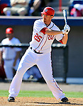 12 March 2011: Washington Nationals' first baseman Adam LaRoche at bat during a Spring Training game against the New York Yankees at Space Coast Stadium in Viera, Florida. The Nationals edged out the Yankees 6-5 in Grapefruit League action. Mandatory Credit: Ed Wolfstein Photo