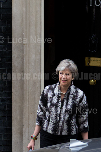 Theresa May MP (Prime Minister, First Lord of the Treasury, Minister for the Civil Service).<br />