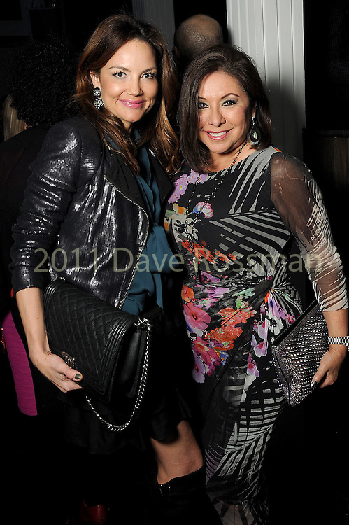 Laurel Ross and Debbie Festari at the Married to Medicine Houston premier party at VrSi Thursday Nov. 10, 2016.(Dave Rossman photo)