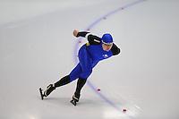 SCHAATSEN: HEERENVEEN: Thialf, 4th Masters International Speed Skating Sprint Games, 25-02-2012, Nikolay Ulyanin (M30) 3rd, ©foto: Martin de Jong
