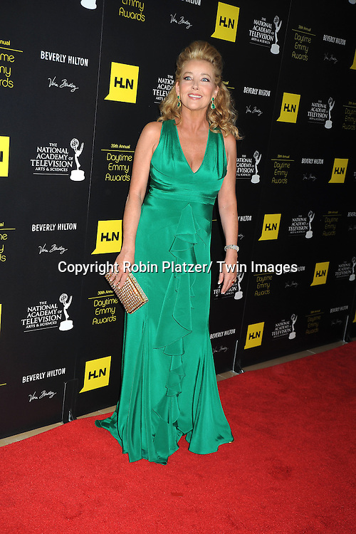 Melody Thomas Scott attends the 39th Annual Daytime Emmy Awards on June 23, 2012 at the Beverly Hilton in Beverly Hills, California. The awards were broadcast on HLN.