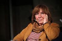 "TSCHECHIEN, 07.11.2014, Prag. Swetlana Alexijewitsch, investigative Journalistin und Autoris aus Weissrussland, beim Prager Schriftsteller-Festival. Sie erhaelt 2015 den Literatur- Nobelpreis. | Svetlana Alexievich, investigative journalist and non-fiction prose writer from Belarus at the Prague Writers' Festival. She was awarded the 2015 Nobel Prize in Literature ""for her polyphonic writings, a monument to suffering and courage in our time"". <br /> © Vasclav Vasku/EST&OST"