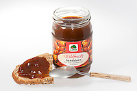 Sanddorn-Produkte, Produkte aus Sanddornfrüchten, Marmelade, Sanddorn, Sand-Dorn, Küsten-Sanddorn, Frucht, Früchte, Hippophae rhamnoides, Products from buckthorn fruits, jam, Sea Buckthorn, Argousier, Saule épineux