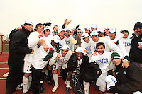 November 16, 2008: Michigan State University celebrating their Big Ten Soccer Tournament Championship in Madison Wisconsin.