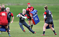Guildford, England. Danielle Waterman of England Women's Sevens in training for Sevens World Series in round three in Atlanta, USA. Surrey Sports Park on March 5, 2015 in Guildford, England.