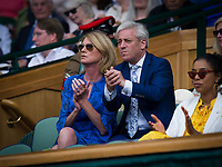 John Bercow - Speaker of the House of Commons - in the Royal Box on Day 10 with his wife Sally<br /> <br /> Photographer Ashley Western/CameraSport<br /> <br /> Wimbledon Lawn Tennis Championships - Day 10 - Thursday 13th July 2017 -  All England Lawn Tennis and Croquet Club - Wimbledon - London - England<br /> <br /> World Copyright &copy; 2017 CameraSport. All rights reserved. 43 Linden Ave. Countesthorpe. Leicester. England. LE8 5PG - Tel: +44 (0) 116 277 4147 - admin@camerasport.com - www.camerasport.com
