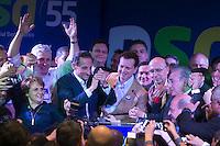 SAO PAULO, SP, 230.06.2014 - CONVENÇÃO ESTADUAL PSD - Gilberto Kassab e Paulo Skaf durante convençao estadual do PSD  nesta segunda-feira, 30 no Edificio Joema no centro da cidade de Sao Paulo. (Foto: Vanessa Carvalho - Brazil Photo Press).