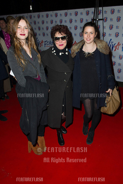 Ruby Wax and daughters at the Viva Forever Press Night, London. 11/12/2012 Picture by: Simon Burchell / Featureflash