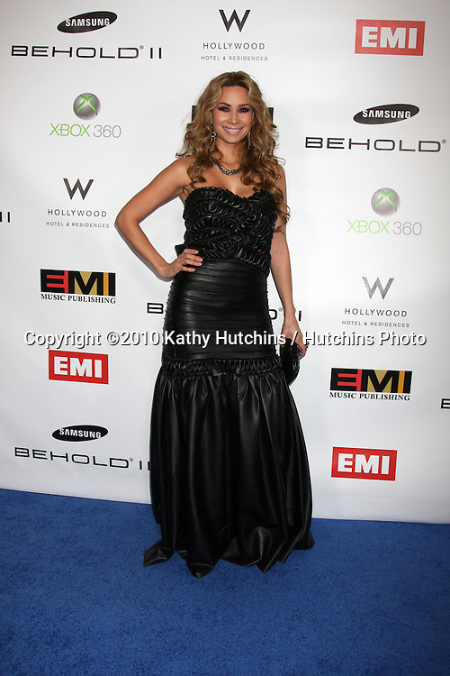 T Lopez.arriving at the EMI Post Grammy Party 2010.W Hotel Hollwood.Los Angeles, CA.January 31, 2010.©2010 Kathy Hutchins / Hutchins Photo....