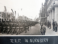 BNPS.co.uk (01202 558833)<br /> Pic: Jones&Jacob/BNPS<br /> <br /> Reich Labour Service (RAD) marching in Nurenberg in 1937.<br /> <br /> Springtime for Hitler...Chilling album of pictures taken by one of Hitlers bodyguards illustrates the Nazi dictators rise to power.<br /> <br /> An unseen album of photographs taken by a member of Hitlers own elite SS bodyguard division in the years leading up to the start of WW2.<br /> <br /> The 1st SS Panzer Division 'Leibstandarte SS Adolf Hitler' or LSSAH began as Adolf Hitler's personal bodyguard in the 1920's responsible for guarding the Führer's 'person, offices, and residences'.