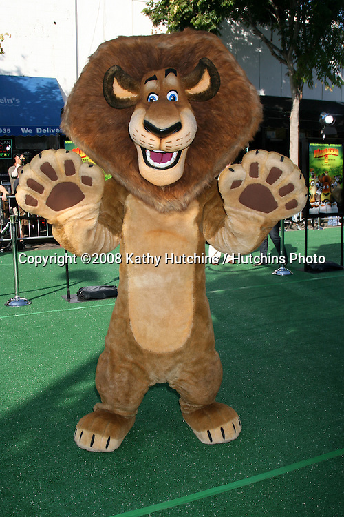 "Alex the Lion  arriving to the Madegascar: Escape 2 Africa"" Premiere at the Mann Village Theater in Westwood, CA  on.October 26, 2008.©2008 Kathy Hutchins / Hutchins Photo...                ."