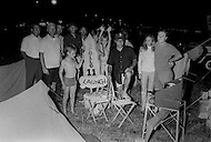 July 16, 1969., Cape Kennedy, Florida, USA --- A barbecue as crowds waiting to watch the launch of Apollo 11 at Kennedy Space Center --- Image by © JP Laffont