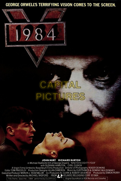 1984 (1984) <br /> (Nineteen Eighty-Four)<br /> POSTER ART<br /> *Filmstill - Editorial Use Only*<br /> CAP/KFS<br /> Image supplied by Capital Pictures