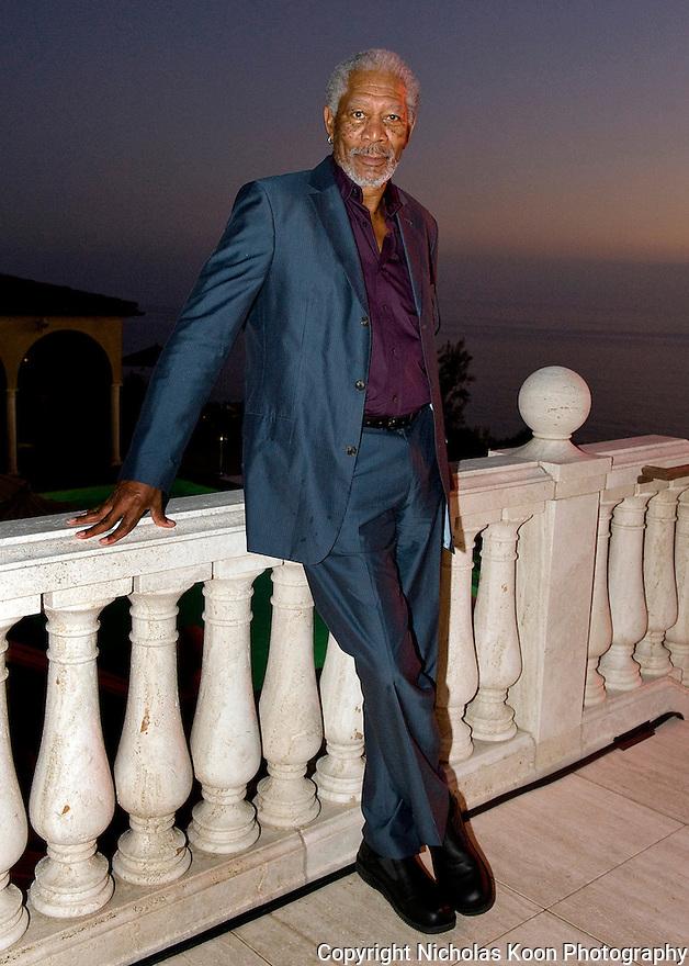Actor Morgan Freeman at an Oceana fundraiser in Laguna Beach on 7/29/12..