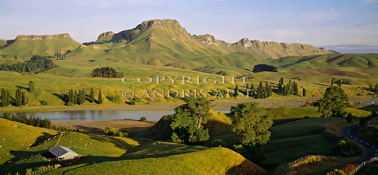 Farmland near Te Mata Peak. Hawkes Bay Region. New Zealand.