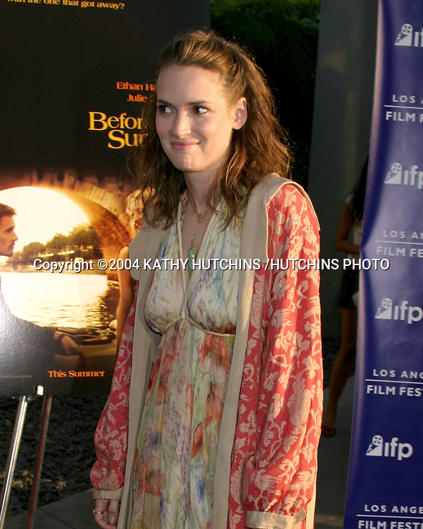 "©2004 KATHY HUTCHINS /HUTCHINS PHOTO.""BEFORE SUNSET"" PREMIERE.HOLLYWOOD, CA.JUNE 23, 2004..WINONA RYDER"