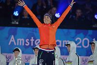 SCHAATSEN: AMSTERDAM: Olympisch Stadion, 10-03-2018, WK Allround, Coolste Baan van Nederland, Final Podium Ladies, Annouk van der Weijden (NED), ©foto Martin de Jong