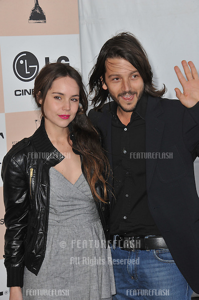 Diego Luna & Camila Sodi at the 2011 Film Independent Spirit Awards on the beach in Santa Monica, CA..February 26, 2011  Santa Monica, CA.Picture: Paul Smith / Featureflash