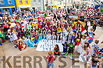 The fine weather brought out a large group for the Childrens Fancy dress at the Cahersiveen Festival of Music & the Arts on Friday evening.
