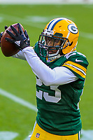 Green Bay Packers cornerback Damarious Randall (23) during a preseason football game against the Philadelphia Eagles on August 10, 2017 at Lambeau Field in Green Bay, Wisconsin. Green Bay defeated Philadelphia 24-9.  (Brad Krause/Krause Sports Photography)