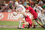 Canada vs England, Day 2 of the HSBC Singapore Rugby Sevens as part of the World Rugby HSBC World Rugby Sevens Series 2016-17 at the National Stadium on 16 April 2017 in Singapore. Photo by Victor Fraile / Power Sport Images