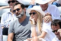 Gilles Lelouch et sa compagne Alizee Internationaux de france de tennis de Roland Garros 2017 - Finale MESSIEURS
