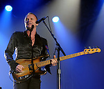 Sting performs at a private function in Houston,Texas Sunday Dec. 05, 2010. (Dave Rossman/For the Chronicle)