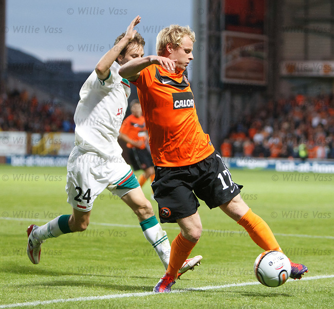 Gary Mackay-Steven twisting and turning in the box