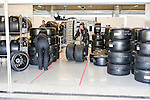 WEC race car tires get ready for use during the WEC Race at the Circuit of the Americas race track in Austin,Texas.