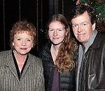 Becky Ann Baker, Willa Baker & Dylan Baker attending the Opening Night After Party for the Playwrights Horizons World Premiere Production of 'The Great God Pan' at Heartland Brewery in New York City on December 18, 2012