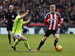 Mark Duffy of Sheffield United during the English Football League One match at Bramall Lane, Sheffield. Picture date: December 31st, 2016. Pic Jamie Tyerman/Sportimage
