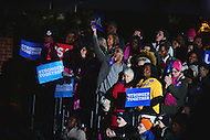 Philadelphia, PA - November 7, 2016: Supporters cheer and applaud as democratic presidential candidate Hillary Clinton is introduced during a campaign rally at Independence Hall in Philadelphia, PA, November 7, 2016, in a final push for votes.  (Photo by Don Baxter/Media Images International)