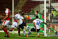 Preston North End's Tom Clarke & Lukas Nmecha (right) see their effort saved on the line by Rotherham United's Marek Rodak<br /> <br /> Photographer David Shipman/CameraSport<br /> <br /> The EFL Sky Bet Championship - Rotherham United v Preston North End - Tuesday 1st January 2019 - New York Stadium - Rotherham<br /> <br /> World Copyright © 2019 CameraSport. All rights reserved. 43 Linden Ave. Countesthorpe. Leicester. England. LE8 5PG - Tel: +44 (0) 116 277 4147 - admin@camerasport.com - www.camerasport.com
