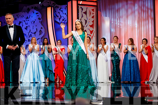 Sinéad Flanagan, Limerick, after she was announced as the 2019 Rose of Tralee at the Rose selection at the Dome on Tuesday evening.