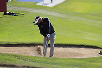 Joost Luiten (NED) plays his 2nd shot from a fairway bunker on the 17th hole during Thursday's Round 1 of the 2017 Omega European Masters held at Golf Club Crans-Sur-Sierre, Crans Montana, Switzerland. 7th September 2017.<br /> Picture: Eoin Clarke | Golffile<br /> <br /> <br /> All photos usage must carry mandatory copyright credit (&copy; Golffile | Eoin Clarke)