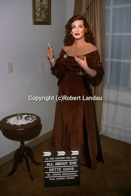 Bette Davis display at the Wax Museum in Buena Park