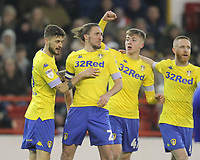 Leeds United's Jack Clarke  celebrates scoring his sides first goal <br /> <br /> Photographer Mick Walker/CameraSport<br /> <br /> The EFL Sky Bet Championship - Nottingham Forest v Leeds United - Tuesday 1st January 2019 - The City Ground - Nottingham<br /> <br /> World Copyright &copy; 2019 CameraSport. All rights reserved. 43 Linden Ave. Countesthorpe. Leicester. England. LE8 5PG - Tel: +44 (0) 116 277 4147 - admin@camerasport.com - www.camerasport.com